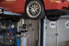 Porsche 964 RS Service Achsvermessung Radlastwaage