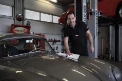 Porsche 356 A- Carrera  und Geschäftsführer Claus Kaufhold